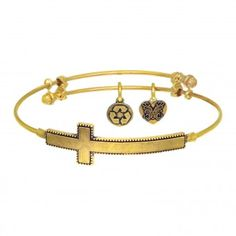 HOT NEW ARRIVAL!! Angelica Collection has added these beautiful Sideways Cross Adjustable bangles. They are offered in Yellow, Rose, and Silver. They are $39 each. These beautiful bracelets are IN STOCK now! If they are sold when in, we will be happy to order you one. The style number for the one shown (Yellow) is GEL1337. Stop by and see our WIDE selection of Angelica bracelets today.