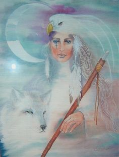 Medicine Woman by Christine Winters - Medicine Woman Painting - Medicine Woman Fine Art Prints and Posters for Sale