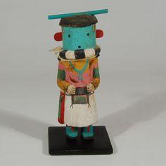 "#adobegallery - Hopi Hakto Katsina Doll. Category: Traditional Origin: Hopi Pueblo Medium: wood, paint Size: 6-1/4"" height Item # C3753.44"