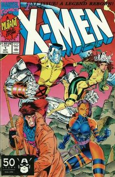 X-men Marvel Comics 1991 First series variant edition cover giant. Cover pencils by Jim Lee (signed), inks by Scott Williams. Rubicon, script by Jim Lee (Co-Plot) and Chris Cl.