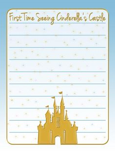 "First Time Seeing Cinderella's Castle - Gold Castle - Project Life Journal Card - Scrapbooking ~~~~~~~~~ Size: 3x4"" @ 300 dpi. This card is **Personal use only - NOT for sale/resale** Castle belongs to Disney. Font is Jenna Sue www.dafont.com/jenna-sue.font *** Click through to photobucket for more versions of this card ***"