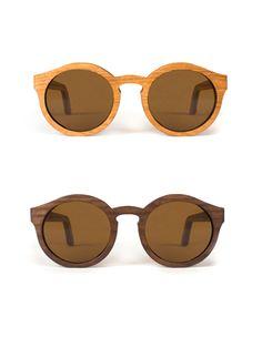 CAPITAL sunglasses. Handmade in SF. Love round frames!