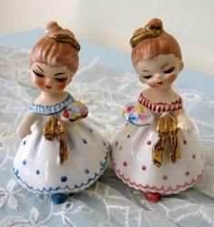 Napco Princess Girl Pair Salt and Pepper Shakers