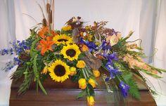 Woodsy Casket Spray Casket Flowers, Funeral Flowers, Funeral Arrangements, Flower Arrangements, Remembrance Flowers, Funeral Caskets, Casket Sprays, Sympathy Flowers, Floral Bouquets
