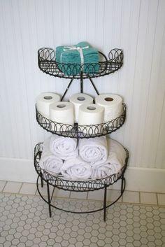 8 DIY Small Bathroom Storage Ideas Worth Your Time - Ideas On A Budget - Wire Shelf
