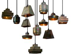 lustre pendants by Tom Dixon