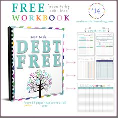 Free printable workbook for paying off debt and getting your finances in order! : Free printable workbook for paying off debt and getting your finances in order! Planners, Budget Binder, Budget Spreadsheet, Free Budget Planner, Budget Notebook, Printable Budget, Household Notebook, Free Notebook, Excel Budget