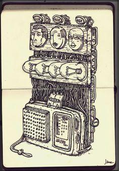 """Ilustracion perteneciente a la colección """"Sketchbook""""  http://www.illustratorfreelance.com/"""