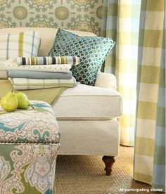 MONACO Interiors: Fabulous fabric friday...Robert Allen... Love the color selections and ideas!
