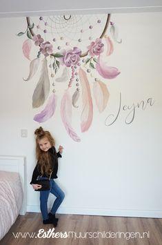 Baby Room Wall Art, Teen Wall Art, Baby Room Decor, Best Living Room Wallpaper, Wall Wallpaper, Diy Wall Painting, Creation Deco, Wall Drawing, Girl Bedroom Designs