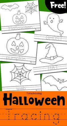 Halloween Tracing Worksheets Free Halloween Themed Tracing And Coloring Pages For Kids To Practice Fine Motor Skills And Handwriting Kids Can Trace A Picture And A Word Then Color Everything In Great Halloween Activity For Preschool And Kindergarten Kids Halloween Worksheets, Halloween Activities For Kids, Holiday Activities, Halloween Crafts Kindergarten, Halloween Crafts For Toddlers, Halloween Tags, Theme Halloween, Women Halloween, Halloween Horror