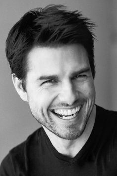 Tom Cruise beautiful smile with white teeth.