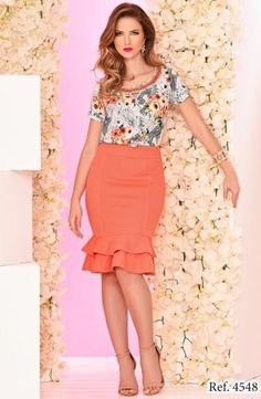 EXECUTIVA - Floratta Modas Vestido Lady Like, All About Fashion, Skirt Outfits, Pretty Woman, High Waisted Skirt, Your Style, Fashion Dresses, Spring Summer, Lifestyle