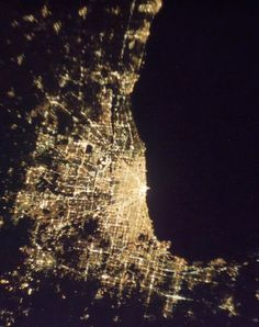 Chicago Night Lights from the International Space Station