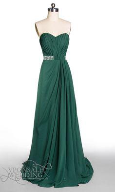strapless long sequins prom dress dark green DVP0001 | VPonsale Wedding Custom Dresses