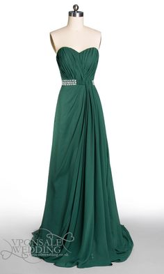 Dark Green Dresses on Pinterest | Gold Formal Dress, Modern Vintage Clothes and Green Prom Dresses