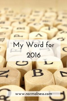 My Word for 2016