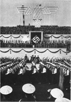 The Navy marching at the Reich's Party Day, Nuremberg, 1935.