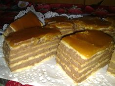 Romanian delight - Prajitura dobos Romanian Desserts, Romanian Food, Food To Make, French Toast, Cheesecake, Cooking Recipes, Baking, Breakfast, Cakes