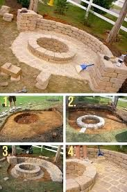 Fire Pit Ideas Backyard Landscaping - Try turning off your TV and stashing the remote for a better family time. Go to your backyard and sit around the fire pit to maintain a conversation, instead. Fire Pit Area, Diy Fire Pit, Fire Pit Backyard, Backyard Patio, Backyard Landscaping, Backyard Seating, Diy Patio, Backyard Furniture, Back Yard Fire Pit