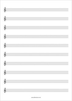 Free Blank Sheet Music - You can choose from 24 different formats.  flutetunes.com