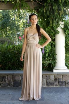 Harper Rose knit bridesmaid dress now available at Chic Bridesmaid in blue, purple, dust, taupe, coral, salmon, mint, emerald green, charcoal and grey