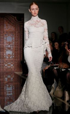 Beautiful Find Out Why Peplum Dresses Are So Popular Peplum wedding dress Wedding dress and Weddings