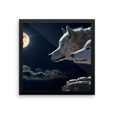 Premium Wolf Framed Photo Print