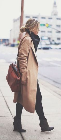 #street #style fall / camel trench coat