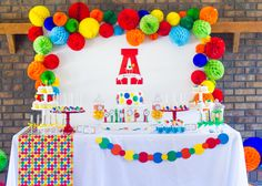 Colorful Bouncy Ball Birthday