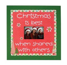 Christmas Is Best 16x16 MDF Frame. A project sheet for this frame can be found here: http://www.craftsdirect.com/default.aspx?PageID=311&ProjectID;=640