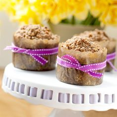 Banana Muffins with Pecans, White Chocolate and Streusel Topping by Supergolden Bakes