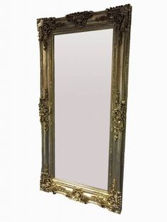 Full Length Silver Antique Effect Mirror 200 x 100cm