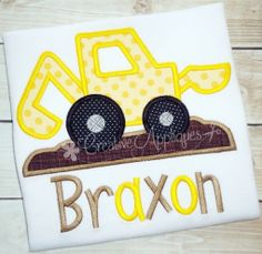 Digger Backhoe Applique