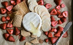 A quick toss of fresh fruit with flavor-enhancing salt and olive oil, some strategic (or rather, mindless) unwrapping of cheese and crackers, and you're pretty much there, appetizer-wise.