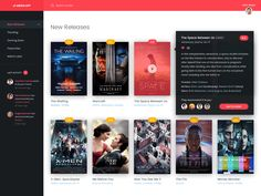 Movie Application UI Details by Ricardo Salazar Web Design, Email Design, Layout Design, Mac Application, Desktop Design, Video On Demand, Ui Web, Web Inspiration, User Interface Design