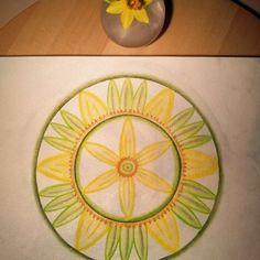 Mandala Daffodil watercolour painting is finished! ♡ Inspiration ~ Imagination ~ Dreamcreation ♡    #mandala #mandalasharing #mandalacreatie #mandalapainting #watercolour #painting #daffodil #narcis #flower #creative #creatief #inspiration #imagination #dreamcreation #inspiratie #imaginatie #droomcreaties