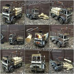 Ex-Army Bedford MJ 4x4 Truck..Modded into Wood Truck with Crane. Now Handcrafted into an Ornamental #FireboxBBQ Wood burner. #MadeInScotland Built by Scottish Truck firepit Creator, Barry wood