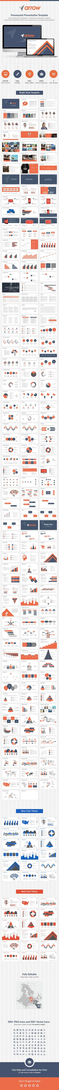 Arrow Powerpoint Presentation Template (PowerPoint Templates)