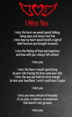 Missing You Love Poems