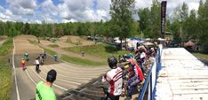 Les compétions de BMX sur la pumptrack du Centre National de Cyclsime Bromont, Track, Sports, Hs Sports, Runway, Excercise, Trucks, Lob, Track And Field