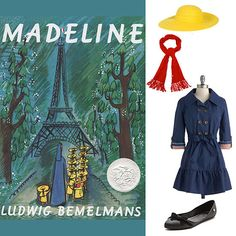 Madeline Channel the iconic Parisian schoolgirl with a short red wig, a classic blue coat, and a bright yellow hat. Complete the look with a red scarf and a pair of black flats.