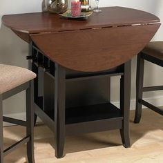 Brunette Cherry Counter Height Pub Table with Drop Down Leaf by Jofran
