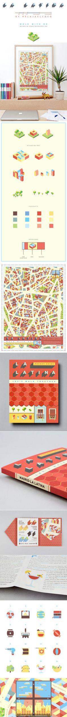 Beautiful map of La Latina · Madrid map