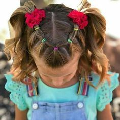 Wavy Centre-Parted Tree Braids - Top 25 Tree Braids Hairstyles - The Trending Hairstyle Easy Toddler Hairstyles, Easy Little Girl Hairstyles, Girls Hairdos, Cute Little Girl Hairstyles, Cute Girls Hairstyles, Braided Hairstyles, Toddler Hair Dos, School Hairstyles, Prom Hairstyles