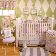 My Baby Sam  SWEET PEA 4pc Crib Bedding Set - FREE SHIPPING-my baby sam trend lab sweet pea purple lavender lilac wedding bride bridal gift bedding shower ensemble baby boy girl infant nursery decor crib bedding bed set blanket new arrivals discount sheet dust ruffle bed skirt bumper pad laundry hamper storage window valance diaper stacker rug lamp lampshade shade polka dot pink brown blue green white stripes argyle paisley damask