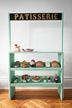 Build a kids pretend play patisserie with free plans. Build a kids pretend play patisserie with free plans. Diy Kids Furniture, Cheap Furniture, Furniture Movers, Furniture Stores, Furniture Plans, Bedroom Furniture, Outdoor Furniture, Diy Projects To Build, Woodworking For Kids