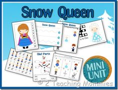 FREE Disney's Frozen Inspired Printable Pack (number order, letter match, pre-writing practice)