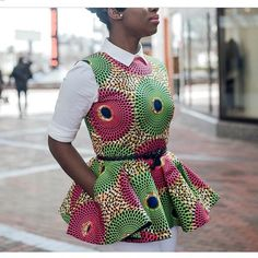 African inspired outfit for women African Blouses, African Tops, African Wear, African Attire, African Women, African Inspired Fashion, African Print Fashion, Africa Fashion, Fashion Prints