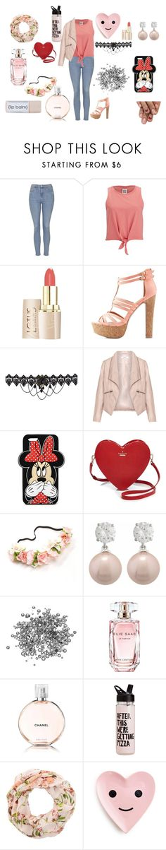 """""""A outfit"""" by jordanbond55 ❤ liked on Polyvore featuring Topshop, Vero Moda, Charlotte Russe, Zizzi, Forever 21, Kate Spade, Elie Saab and Chanel"""